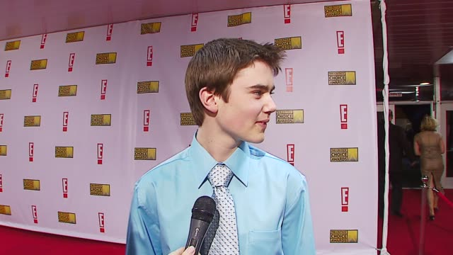 Cameron Bright on being nominated at the Broadcast Film Critics Association's 2007 Critic's Choice Awards at Santa Monica Civic Auditorium in Santa...