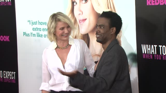 Cameron Diaz and Chris Rock at What To Expect When You're Expecting New York Premiere at AMC Lincoln Square Theater on May 08 2012 in New York New...