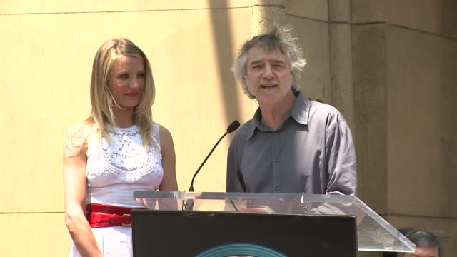 Cameron Diaz and Curtis Hanson at the Cameron Diaz Honored With Star On The Hollywood Walk Of Fame at Hollywood CA