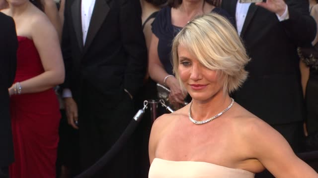 cameron diaz at 84th annual academy awards arrivals on 2/26/12 in hollywood ca - cameron diaz stock videos & royalty-free footage