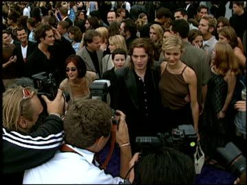 cameron diaz at the 1997 mtv movie awards at barker hanger in santa monica, california on june 7, 1997. - 1997 stock videos & royalty-free footage