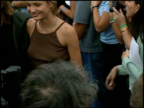Cameron Diaz at the 1997 MTV Movie Awards at Barker Hanger in Santa Monica California on June 7 1997