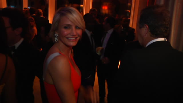 cameron diaz at the 2012 vanity fair oscar party hosted by graydon carter inside party at west hollywood ca - cameron diaz stock videos & royalty-free footage