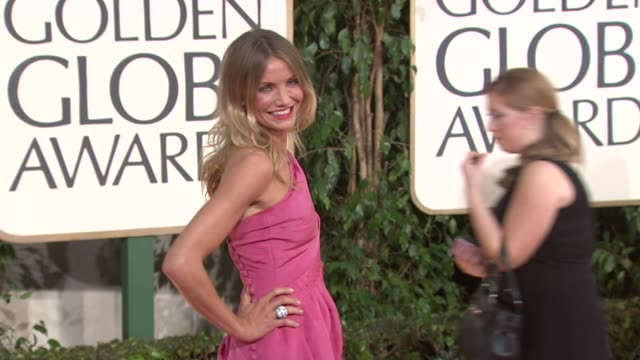 stockvideo's en b-roll-footage met cameron diaz at the 66th annual golden globe awards arrivals part 5 at los angeles ca - golden globe awards