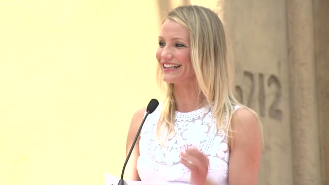 cameron diaz at the cameron diaz honored with star on the hollywood walk of fame at hollywood ca - cameron diaz stock videos & royalty-free footage