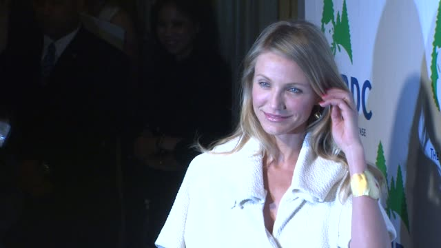 cameron diaz at the national resources defense council's 20th anniversary celebration at beverly hills ca - national resources defense council stock videos & royalty-free footage
