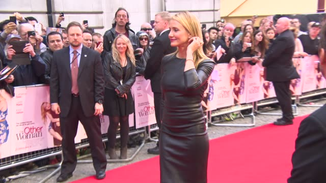 cameron diaz at 'the other woman' uk gala screening at curzon cinema mayfair on april 1 2014 in london england - cameron diaz stock videos & royalty-free footage