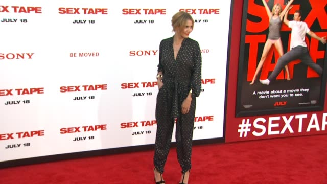 cameron diaz at the sex tape los angeles premiere at regency village theatre on july 10 2014 in westwood california - cameron diaz stock videos & royalty-free footage