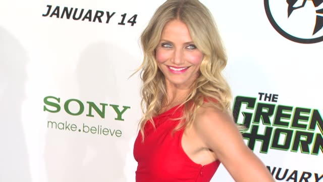 cameron diaz at the 'the green hornet' premiere at hollywood ca - cameron diaz stock videos & royalty-free footage