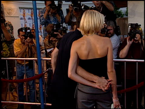 cameron diaz at the 'there's something about mary' premiere at the mann village theatre in westwood california on july 9 1998 - cameron diaz stock videos & royalty-free footage