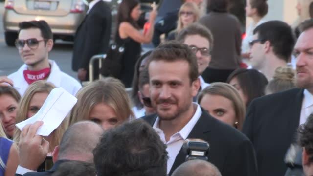 Cameron Diaz Jason Segel meet up at the Sex Tape Premiere in Westwood at Celebrity Sightings in Los Angeles on July 10 2014 in Los Angeles California