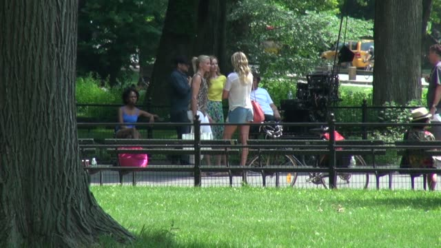 Cameron Diaz Kate Upton and Leslie Mann on location for 'The Other Woman' in New York NY on 6/27/13