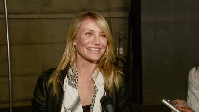 cameron diaz on the event a film from the broadcast that affected her what she does to help the environment how she feels about the world... - cameron diaz stock videos & royalty-free footage
