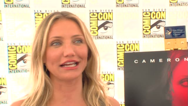 Cameron Diaz on the types of movies she does at the ComicCon 2009 'The Box' Press Line at San Diego CA
