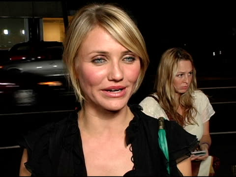 cameron diaz on what attracted her to the project on the script being very well written and defined at the 'in her shoes' premiere at academy of... - cameron diaz stock videos & royalty-free footage