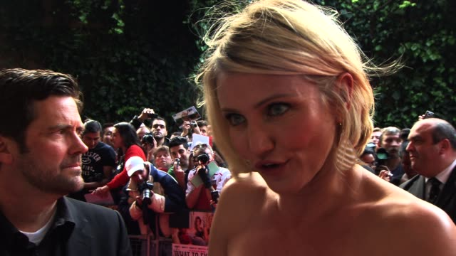 Cameron Diaz on working with Matthew Morrison at What To Expect When You're Expecting UK premiere at BFI IMAX on May 22 2012 in London England