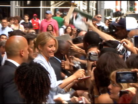 cameron diaz outside good morning america at the celebrity sightings in new york at new york ny - good morning america stock videos and b-roll footage