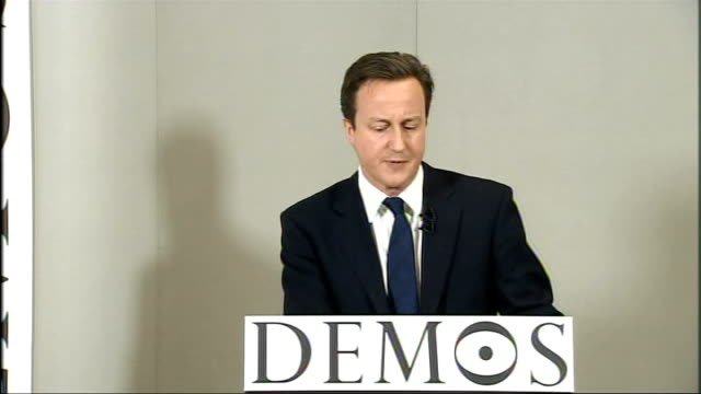 stockvideo's en b-roll-footage met cameron speech at demos on creating a responsible society if we're over indulged we're less likely to be able to stick at things if we regularly... - e=mc2