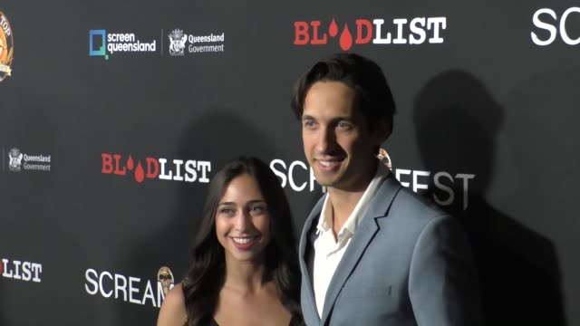 cameron van hoy & samara pollak at the 2017 screamfest horror film festival - premiere of 'tragedy girls' on october 15, 2017 in hollywood,... - hoy stock videos & royalty-free footage