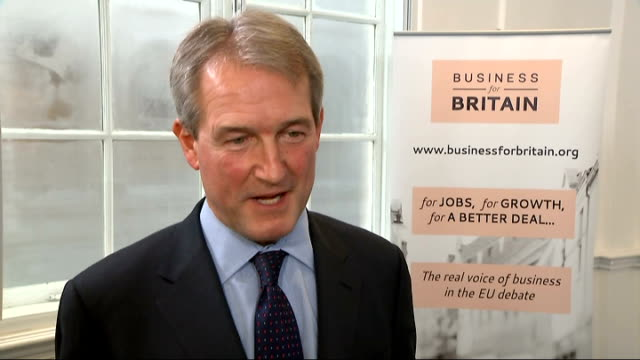 cameron warned about new immigration policy as paterson calls for the uk to leave the eu paterson interview ****lots london int owen paterson mp... - owen paterson stock videos and b-roll footage