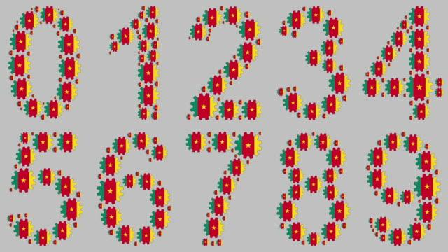 vidéos et rushes de nombres camerounais fixés - chiffre 8