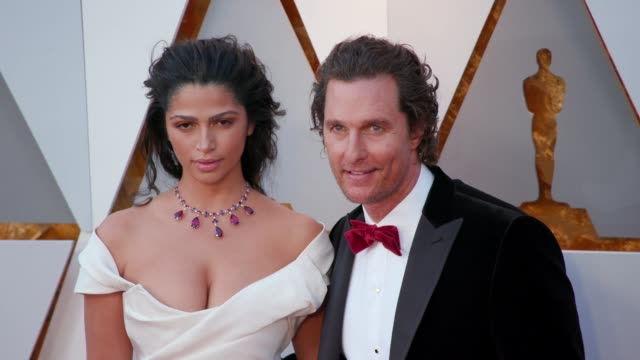 Camila Alves and Matthew McConaughey at 90th Academy Awards Arrivals at Dolby Theatre on March 04 2018 in Hollywood California