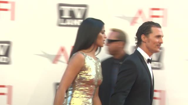 Camila Alves and Matthew McConaughey at the 39th AFI Life Achievement Award Honoring Morgan Freeman at Culver City CA