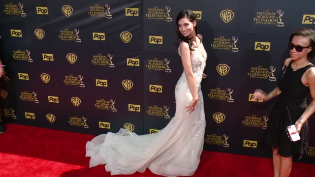 camila banus at 42nd annual daytime emmy awards at warner bros studios on april 26 2015 in burbank california - annual daytime emmy awards stock videos & royalty-free footage