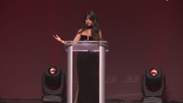 speech camila cabello accepts her honor from carolyn miles ceo save the children at save the children's centennial gala changing the world for... - save the children stock videos & royalty-free footage