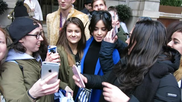 Camila Cabello and Machine Gun Kelly at BBC Radio One Celebrity Sightings in London on January 31 2017 in London England