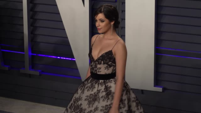 camila cabello at 2019 vanity fair oscar party hosted by radhika jones at wallis annenberg center for the performing arts on february 24, 2019 in... - vanity fair oscar party stock videos & royalty-free footage