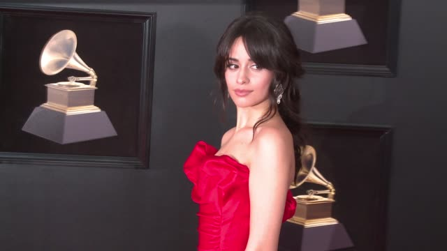 camila cabello at 60th grammy awards celebration party at madison square garden on january 28 2018 in new york city - grammys stock videos & royalty-free footage