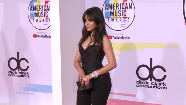 camila cabello at the 2018 american music awards at microsoft theater on october 09 2018 in los angeles california - american music awards video stock e b–roll