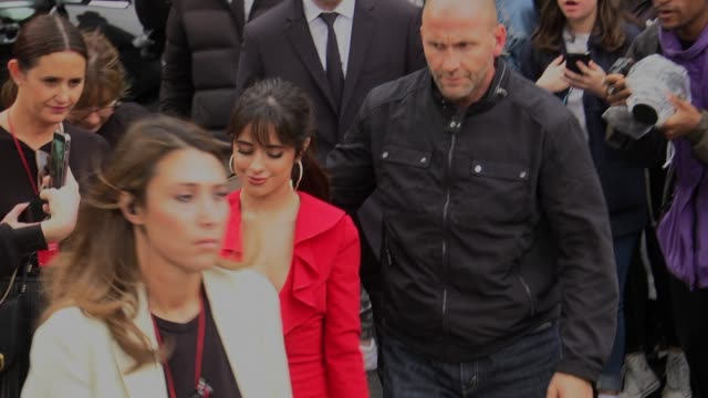 camila cabello attends the valentino womenswear spring/summer 2020 show as part of paris fashion week on september 29 2019 in paris france - celebrity sightings stock videos & royalty-free footage