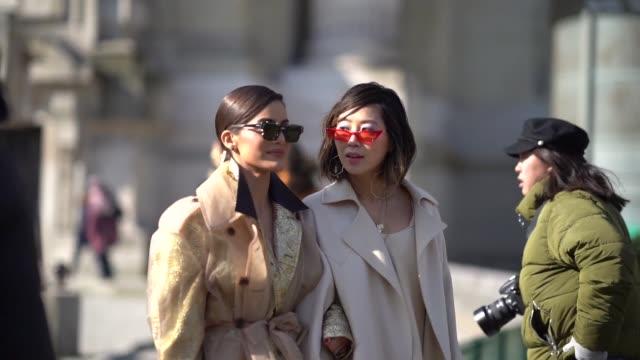 Camila Coelho and Aimee Song during Paris Fashion Week Womenswear Fall/Winter 2018/2019 on February 28 2018 in Paris France