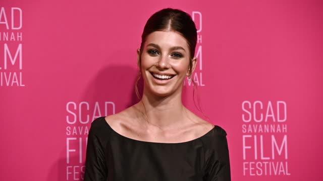 camila morrone at the 22nd scad savannah film festival – red carpet day 5 on october 30 2019 in savannah georgia - savannah georgia stock videos & royalty-free footage