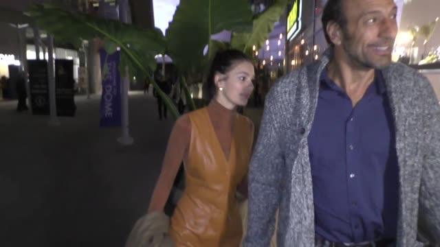 vidéos et rushes de camila morrone leaves arclight cinemas in hollywood in celebrity sightings in los angeles, - arclight cinemas hollywood