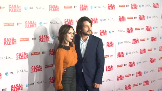 camila sodi diego luna at casa de mi padre los angeles premiere on 3/14/12 in los angeles ca - padre stock videos & royalty-free footage