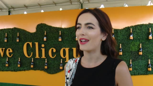 interview camilla belle at will rogers state historic park on october 15 2016 in pacific palisades california - pacific palisades stock videos & royalty-free footage