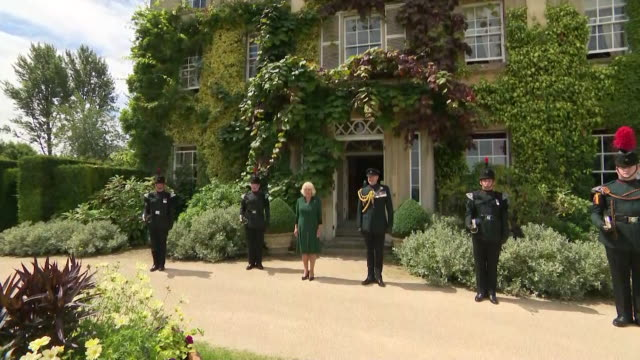 camilla, duchess of cornwall, receiving the title of colonel in chief of the rifles, at highgrove, gloucestershire, a title previously held by prince... - rifle stock videos & royalty-free footage