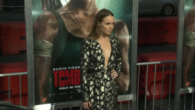 Camilla Luddington at the 'Tomb Raider' Premiere at TCL Chinese Theatre on March 12 2018 in Hollywood California