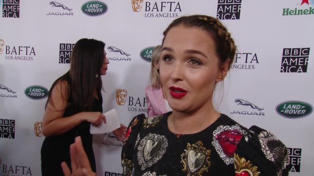 interview camilla luddington on why the bafta la tv tea party is a mustattend event at 2018 bafta los angeles bbc america tv tea party in los angeles... - bafta la tea party stock videos and b-roll footage