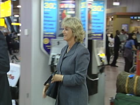 camilla parkerbowles later duchess of cornwallflies into heathrow on concorde as ordinary passenger following prrelated visit to new york met by... - camilla duchess of cornwall stock videos and b-roll footage