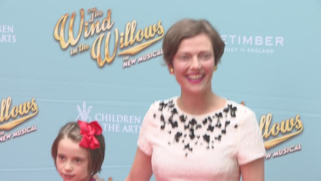 stockvideo's en b-roll-footage met camilla rutherford at the wind in the willows press night / vip gala at london palladium on june 29 2017 in london england - london palladium
