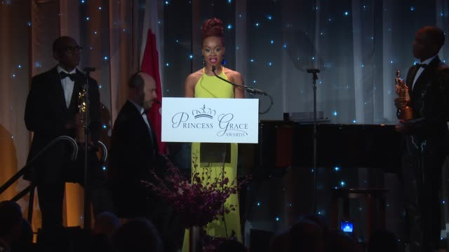 speech camille a brown at the 2016 princess grace awards gala at cipriani 25 broadway on october 24 2016 in new york city - cipriani manhattan stock videos & royalty-free footage