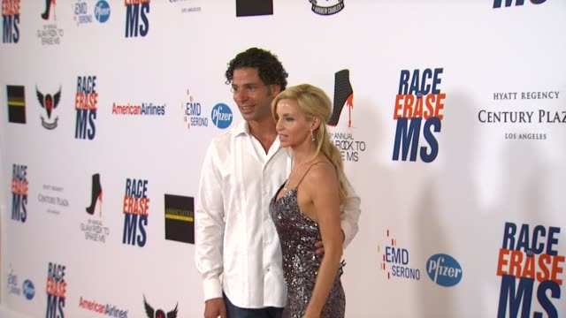 camille grammer at 19th annual race to erase ms glam rock to erase ms on 5/18/12 in los angeles ca - race to erase ms stock videos and b-roll footage