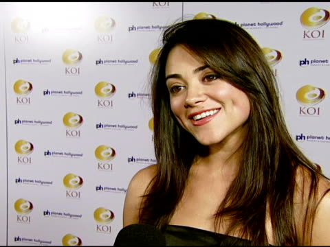 Camille Guaty on being at the event and on being a fan of KOI at the KOI Las Vegas Grand Opening at Planet Hollywood in Las Vegas Nevada on November...