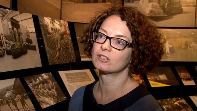 stockvideo's en b-roll-footage met camp bastion exhibition at imperial war museum amanda mason interview sot ext imperial war museum building and grounds louise skidmore set up shot... - imperial war museum museum