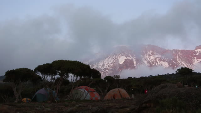camp in front of mountain - wiese stock videos & royalty-free footage