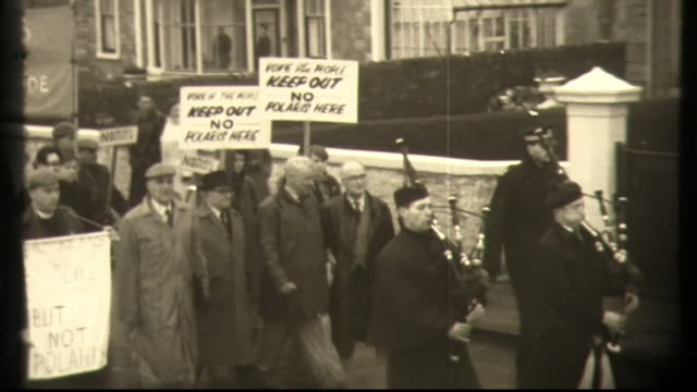 campaign for nuclear disarmament demonstration against polaris base glasgow and holy loch scotland uss proteus and protestors at the beach - lakeshore stock videos & royalty-free footage